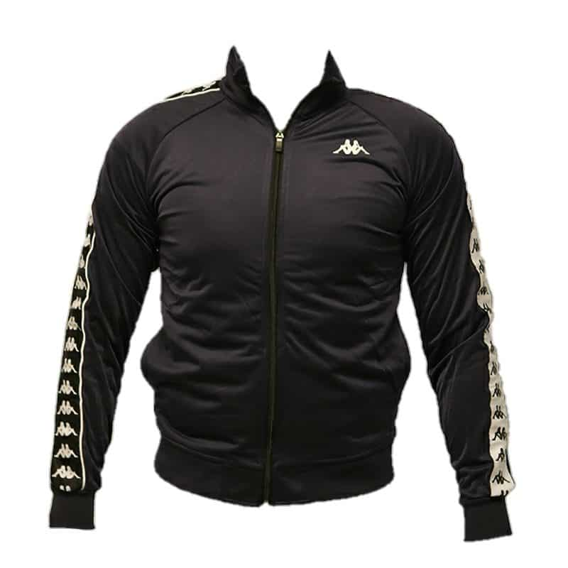 KAPPA MENS TRACK TOP BANDA ANNISTON SLIM BLACK BLUE
