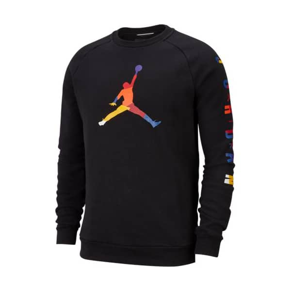 MJ SPRT DNA HBR FLEECE CREW BLACK