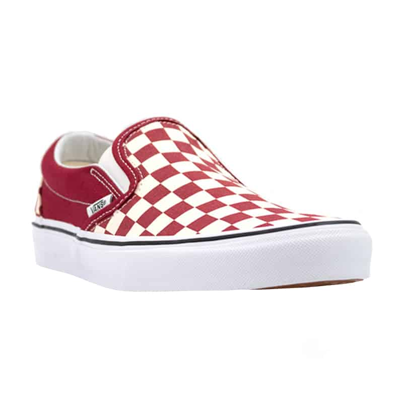 VANS CLASSIC SLIP ON CHECK RUMBA RED