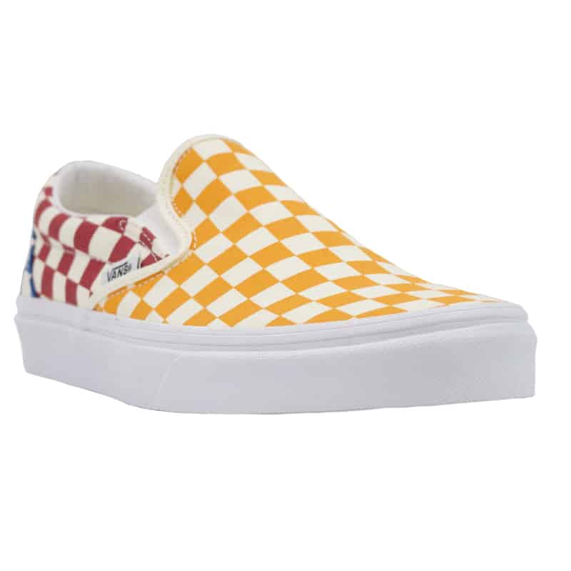 VANS CLASSIC SLIP ON MULT WHT CHECKER WHITE