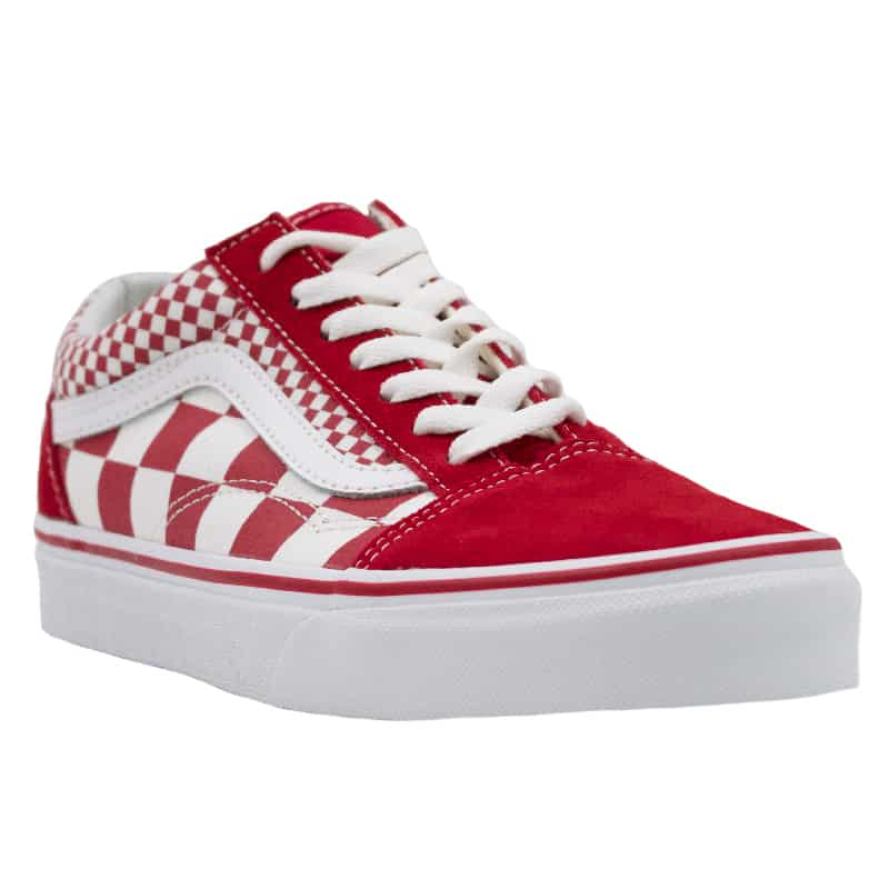 VANS OLD SKOOL CHILLI PEPPER MIX CHECKER RED