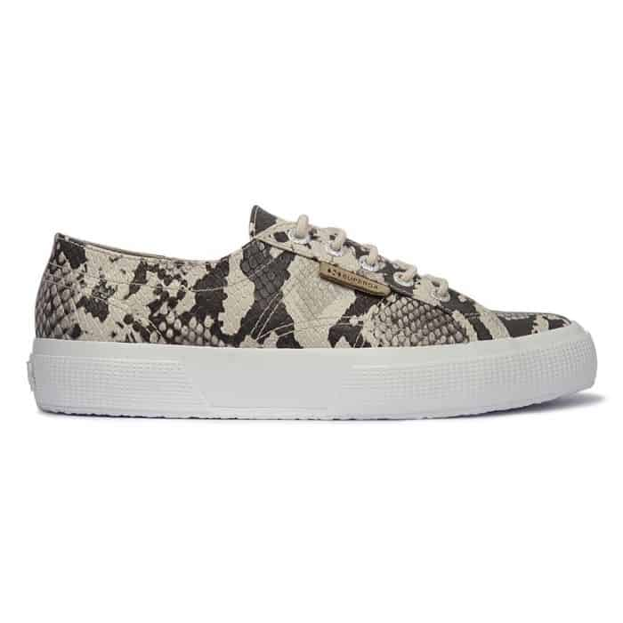 SUPERGA 2750 SYNTHETIC SNAKE TAUPE